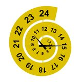 Spiral clock Royalty Free Stock Image