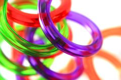 Spiral color plastic straws Stock Photo