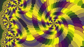 Spiral. Colored patterns. Royalty Free Stock Images