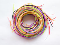 Spiral of colored ropes Stock Photos