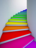 Spiral colorful stair to the future. Royalty Free Stock Photo