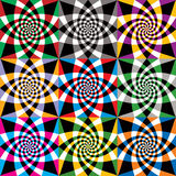 Spiral colorful whirls seamless pattern. Stock Images