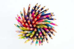 Spiral of colors in pure white royalty free stock photo
