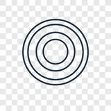 Spiral concept vector linear icon isolated on transparent backgr. Ound, Spiral concept transparency concept in outline style vector illustration