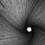 Spiral concrete tunnel Stock Image