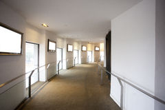 Spiral corridor with window. And photo frame Royalty Free Stock Photography