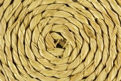 Spiral craftwork with bamboo fibers close up texture. Photo of Spiral craftwork with bamboo fibers close up texture Stock Images