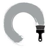 Spiral curve vector illustration, brushed circular shape. Stock Photography