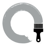 Spiral curve vector illustration, brushed circular shape.  Stock Photo