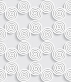Spiral cut out white seamless background Royalty Free Stock Image