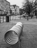 Spiral cykelställning Arkivfoton