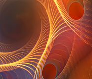 Spiral dance. Fractal smooth background Stock Photo