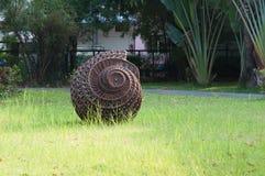 Spiral decoration in garden stock photos