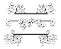 Spiral design elements. Set of classic spiral floral design elements Royalty Free Stock Images