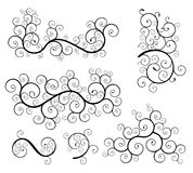 Spiral design elements. Set of classic spiral floral design elements Royalty Free Stock Image
