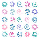 Spiral design elements. Royalty Free Stock Images