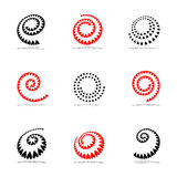 Spiral design elements set. Royalty Free Stock Photo