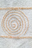 Spiral design on furly surface.  Royalty Free Stock Photography