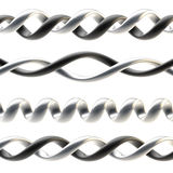 Spiral design ornaments and borders Royalty Free Stock Images