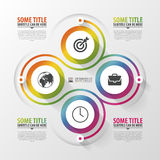 Spiral with diagram infographics element. Modern design template. Vector illustration Royalty Free Stock Photo
