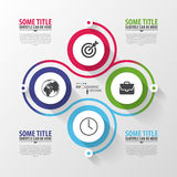 Spiral with diagram infographics element. Vector Royalty Free Stock Images