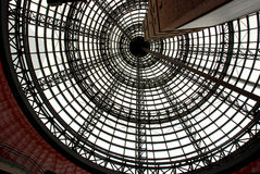 Spiral Dizziness. Modern spiral pattern on Melbourne Central's ceiling dome Stock Photos