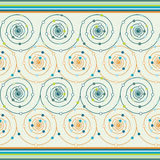 Spiral with dots. Green and orange stock illustration
