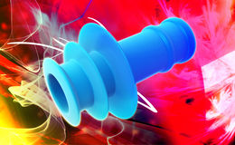 Spiral Ear Plugs Royalty Free Stock Photography