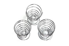 Spiral Egg Cups Stock Photography