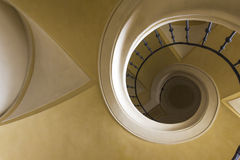 Spiral elliptical stair Royalty Free Stock Photos