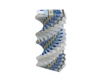 Spiral of 20 Euro banknotes Royalty Free Stock Image