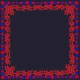 Spiral för garnering för abstrakt för rammodellblomma sömlöst för skönhet för sommar abstrakt begrepp för modell sömlös Arkivfoto