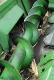 Spiral för metallskruvtransportör royaltyfria foton