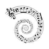 spiral för musikark Fotografering för Bildbyråer