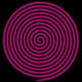 Spiral för virvel för lilarundaabstrakt begrepp hypnotisk stock illustrationer