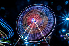 Spiral. Ferris wheel in Lunapark - Cracow Royalty Free Stock Image