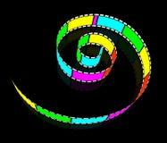 Spiral film Stock Image