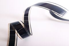 Spiral Film Strip royalty free stock photo
