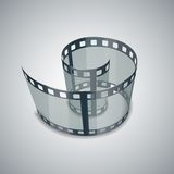 Spiral of film strip. Graphic concept for your design illustration Royalty Free Stock Photography