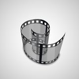 Spiral of film strip. Graphic concept for your design illustration Stock Photo