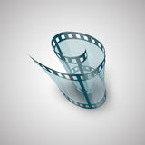 Spiral of film strip. Graphic concept for your design illustration Stock Photography