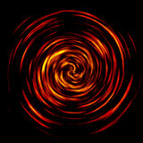 Spiral of fire. Spinning wheel of fire - computer illustration Stock Photo