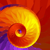 Spiral of Fire. Abstract fractal spiral in hot fiery colors Royalty Free Stock Image