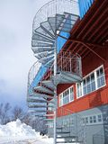 Spiral fire escape Stock Photography