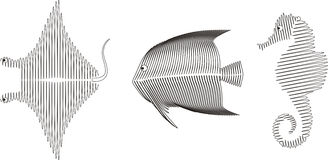 Spiral fish, vector Stock Photography