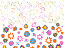 Spiral and flower texture Royalty Free Stock Photography