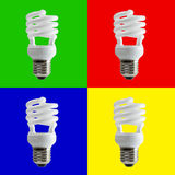 Spiral fluorescent light Stock Images