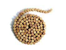 Spiral från vinkorkar Arkivbild