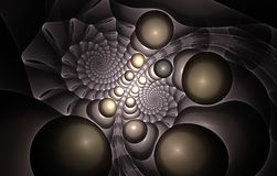 Spiral fractal Royalty Free Stock Photography
