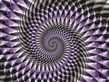 Spiral Fractal. High-resolution fractal image Stock Image